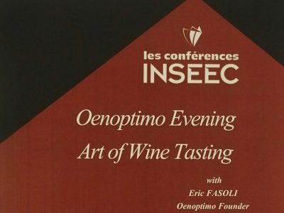 inseec œnoptimo evening art of wine tasting